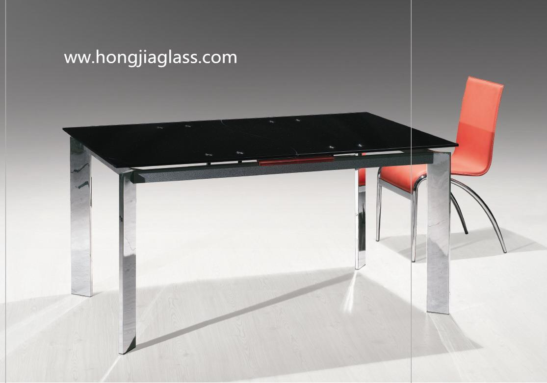 Tempered Glass Table Top And Partition Glass Hongjia