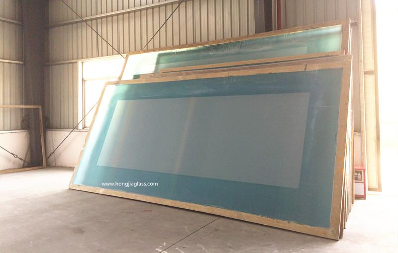 template for tempered ceramic frit glass