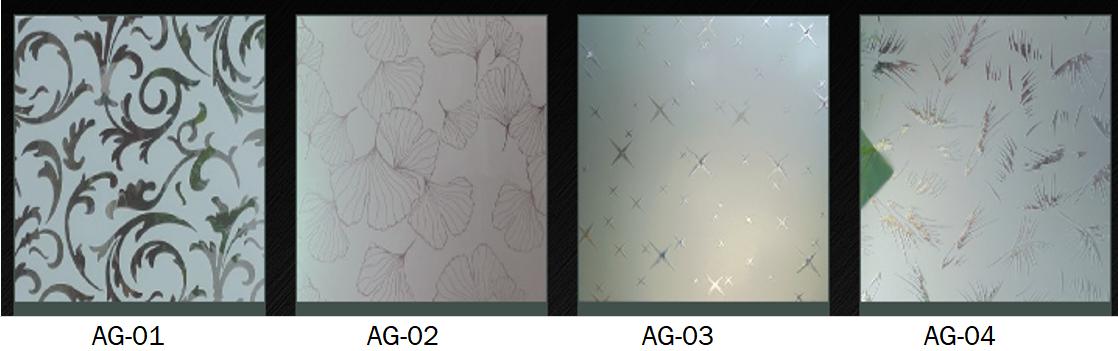 acid etched art glass