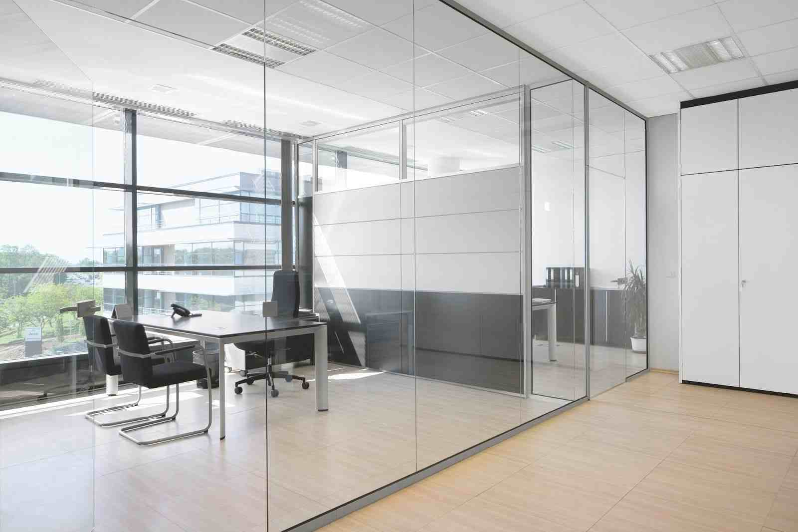 flat glass partition